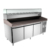 Pizza Refrigerator - CE Approval High Quality R134a Refrigerated Pizza Making Prep Table with Marble Work Top