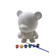 Hot sale ! 3D large DIY vinyl plastic animal figure , children blank vinyl graffiti toy