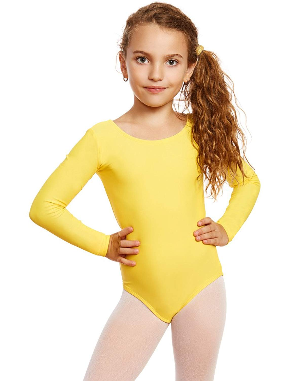 0685dbd2 Get Quotations · Leveret Girls Leotard Basic Long Sleeve Ballet Dance  Leotard Kids & Toddler Shirt (2-