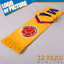 Customized mens printed North West of South America football team sport neck scarf,university teenage scarf