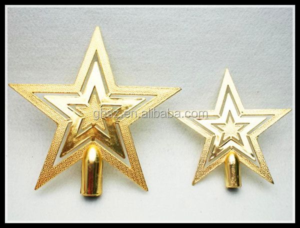 Wholesale factory direct christmas decorations christmas tree top star decoration