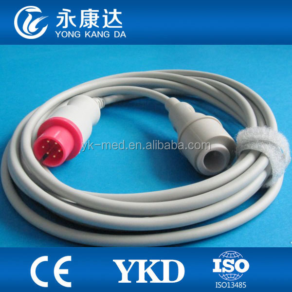 MEK IBP cable 6 pin to Edward transducer adapter cable,medical TPU cable