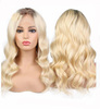 Beauty Hair 1b#/613# Blonde Ombre Two Tone Remy Peruvian Human Hair Lace front Wigs With Baby Hair