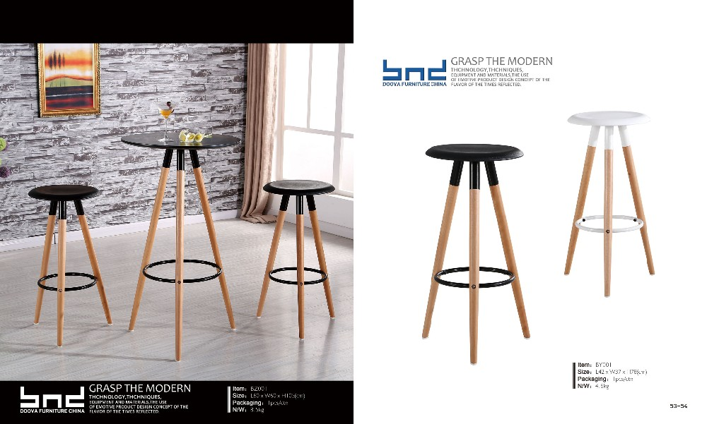 Round bar table with PP top