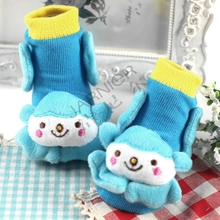 Spandex/Cotton Material Todder Socks/3D Animal Head Cute Socks /Customized Baby Shoe Socks Hot sale