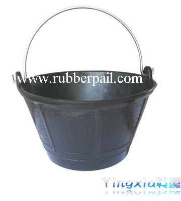 10L recycled rubber buckets&pails with galvanized handle