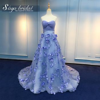 Bridal Ball Gown Lace Purple Mermaid Wedding