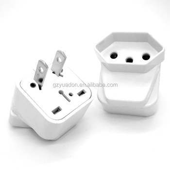 Travel Electric Adapter 2 Pin Usa Plug Electrical Plugs Sockets Auto Connectors