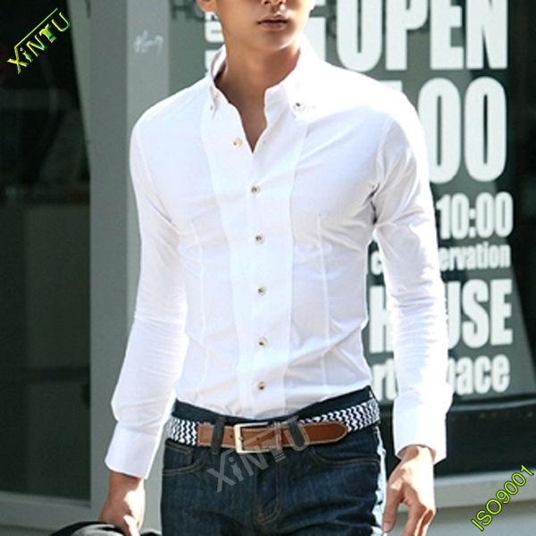 2014 Wholesale Fancy White Men Shirt Cutting - Buy Men Shirt,Men ...
