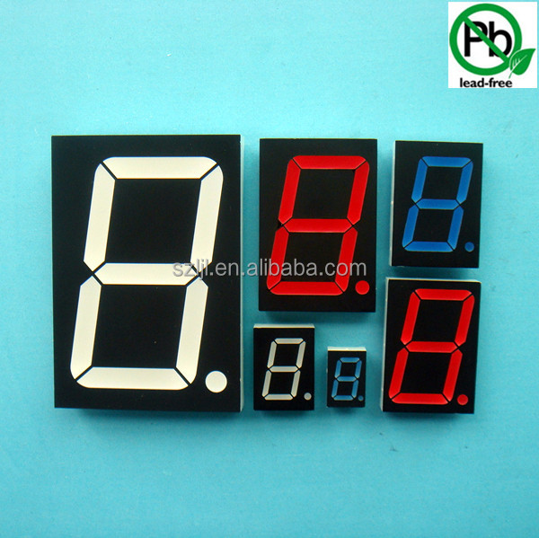 "(Single digit display series) Small 7 segment led display common cathode / common anode 0.36""/0.36 inch"