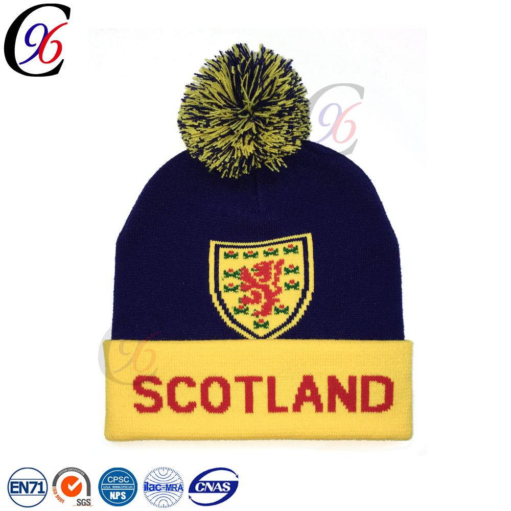 70db5f454a885a new style hot selling pattern cheap winter hat outside sports warm football  soccer knitted toque