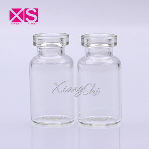 shiny clear ampoule bottle 2ml with lid cover