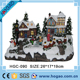 Custom LED christmas village town with light and sound houses resin christmas ornaments wholesale