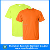 Yellow/orange fluorescent blank dry fit t shirt wholesale