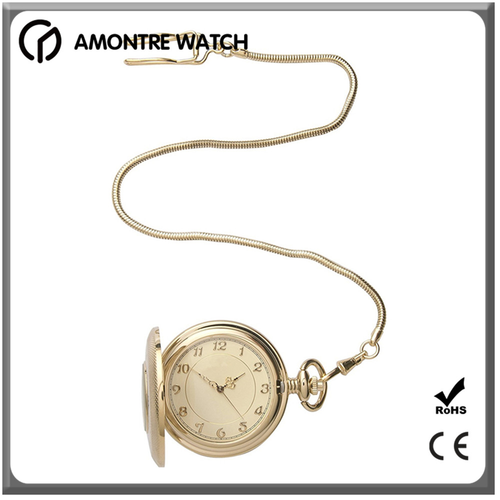 Antique stainless steel case gift pocket watch for man