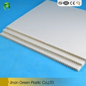 Green Brand Corflute Sheet PP Correx /Corrugated/Coroplast Sheet For Wall Decoration Plate