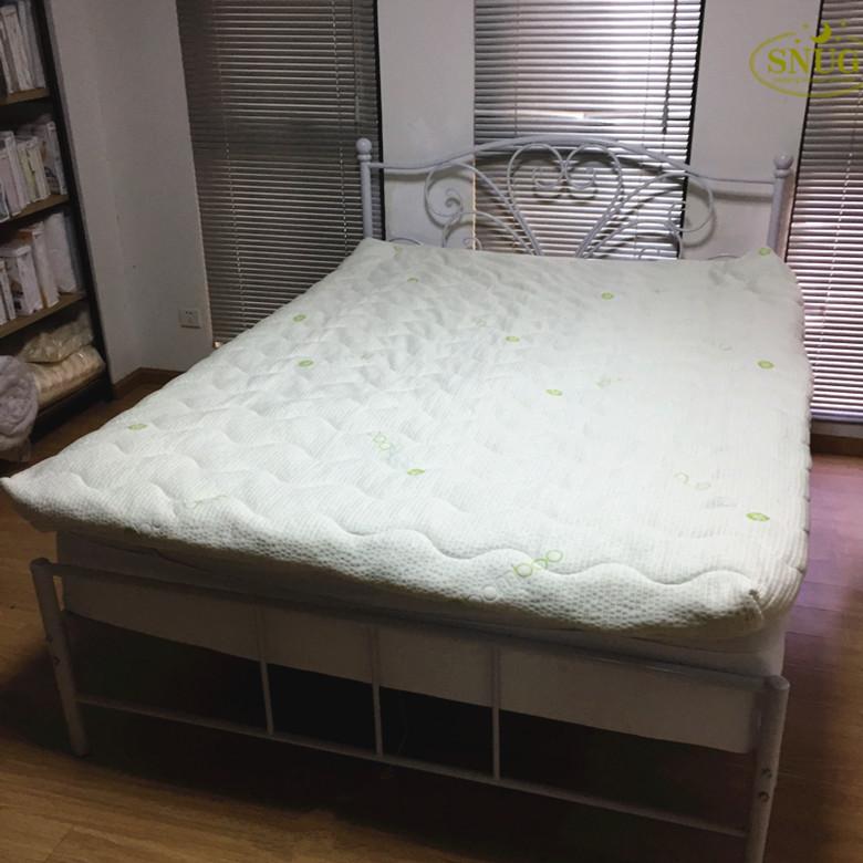 슈퍼 부드러운 고급 침대 버그 누비 대나무 매트리스 coverwith 지퍼 SGB-9