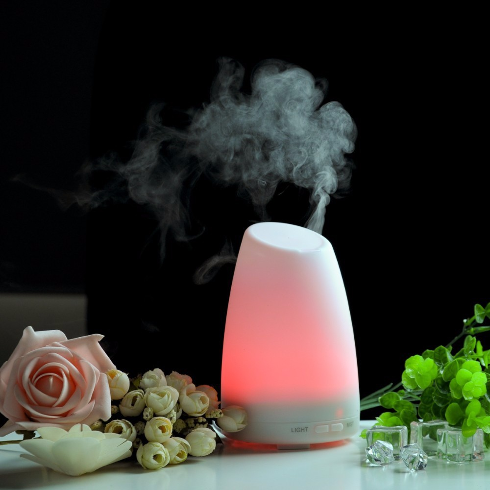 veister led light essential oil ultrasonic air humidifier electric aroma diffuser spa vapor healthful mist - Scent Diffuser