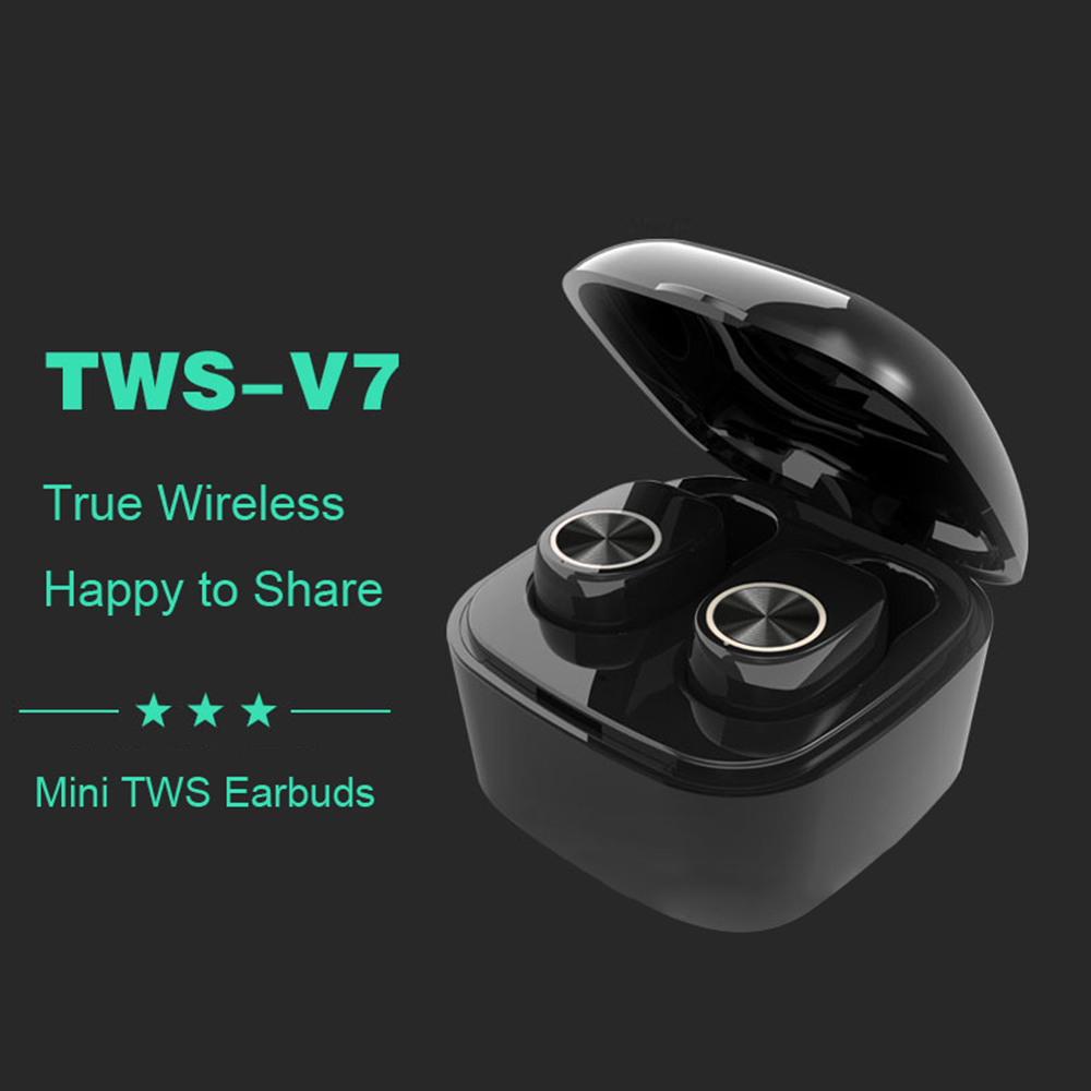 V7 Mini True TWS Wireless Headphones Bluetooth 4.2+EDR Headset Earphone for smartphone sport Earbuds for iphone XS X for xiaomi