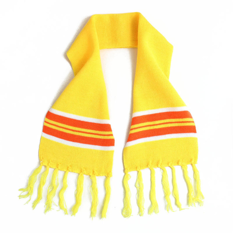 Professional Design Children'S Yellow Knit Warm Function Winter 100%Acrylic Scarf