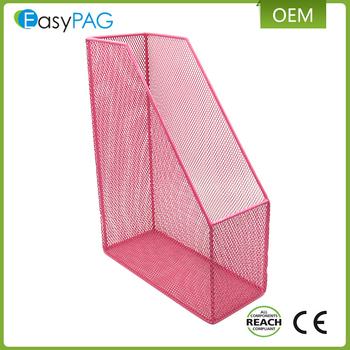 Pink Color 1 Grid Office Desk Organizer Mesh File Holder Metal Magazine  Rack - Buy Magazine Rack,File Holder,Metal Magazine Rack Product on