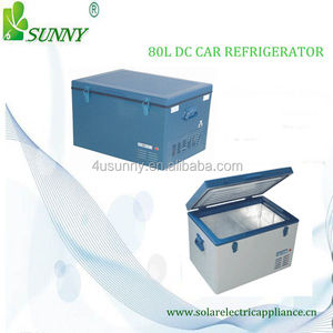 Hot sale and traveling convenience to carry 12V 24V DC solar car fridges BCD-80
