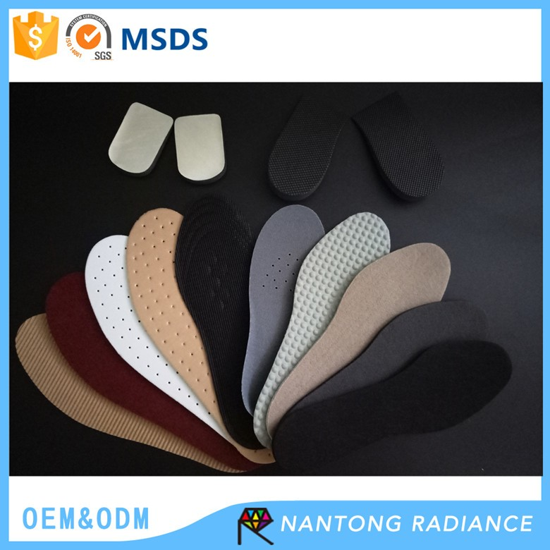 22-28cm Wholesale Unisex Latex Insole Mesh Cloth With Latex Rubber