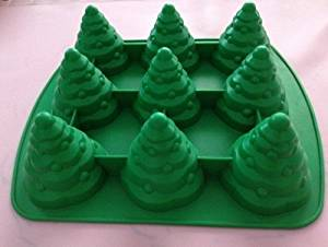 Creativemoldstore 1pcs 3D Christmas Trees (HY1-127) Food Grade Silicone Cake/Chocolate/Jelly/Pudding/Ice/Candy DIY Mold
