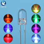 Ultra bright round DIP 2 pins rgb color 5mm light emitting led diode