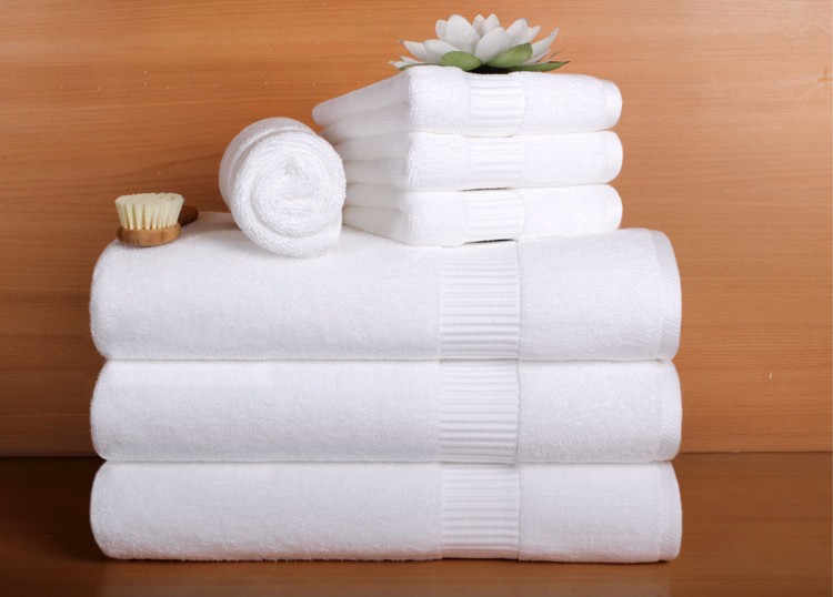 Pure Cotton Hotel 16s White Bath Towel Set