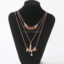 Newest Design Layered Pearl Necklace Statement Long Chains Jewelry Necklace Oem Jewellery Necklace