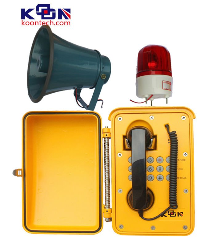 All Weather Protection Loudspeaker Telephone with Red Flash Light KNSP-08L