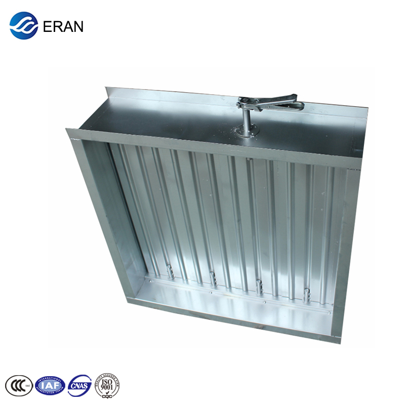 Hvac system galvanized steel fire proof smoke manual air duct damper
