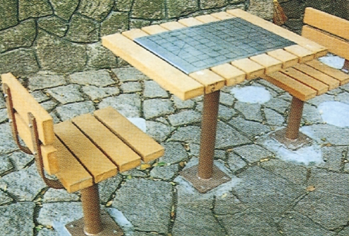 Charming Special Designed Outdoor Furniture Chess Table/china Tables Chairs Product  For Chess/wooden Garden