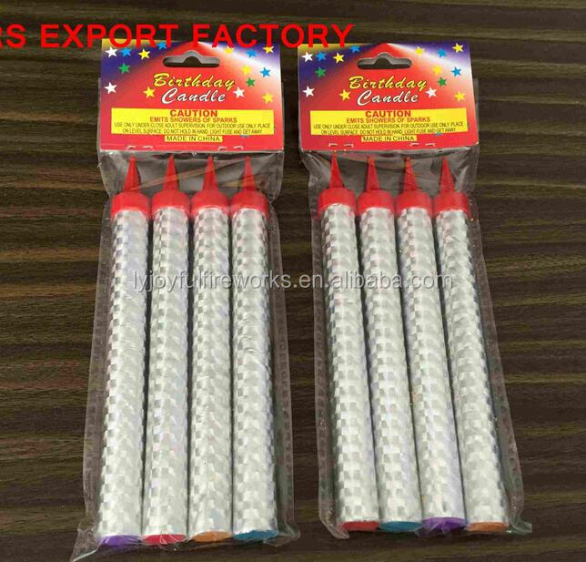 Liuyang factory price 10cm 12cm 15cm 20cm smokeless Birthday Candle Fireworks sparkler candle indoor fireworks cold fireworks