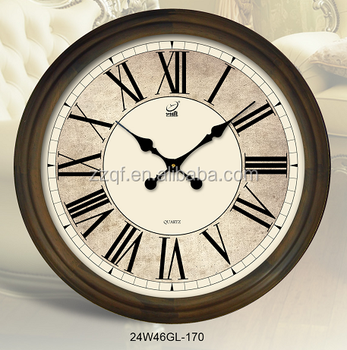 Clock Frame 24 Inch Wooden Wall Clock Decoration Items Retro Style ...