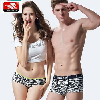wholesale high quality all-over printed underwear 95%cotton/5%spandex womens panties for men sexy couple panties