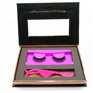 soft colourful eyelashes packaging cardboard box