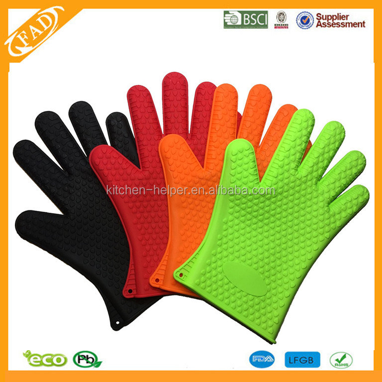 Hot Selling Heat Resistant BBQ Slicone Gloves/Silicone Grill Oven BBQ Gloves/Oven Mitts
