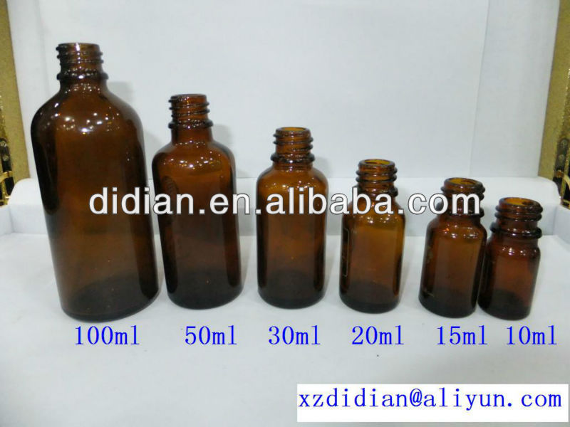 5ml,10ml,15ml,20ml,30ml,50ml,100ml,clear(flint),amber,blue,green essential oil glass bottle