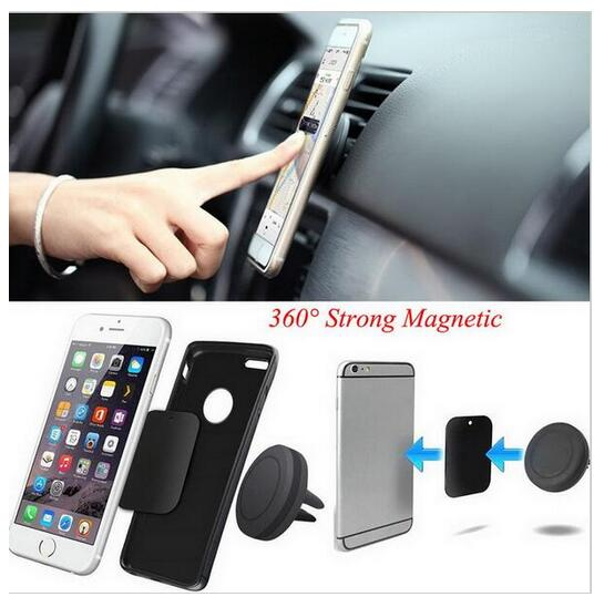 High Quality Best Selling Flexible 360 Degree Rotating Magnetic Mobile Phone Car Mount Air Vent Holder For Smart Phone Car Holde