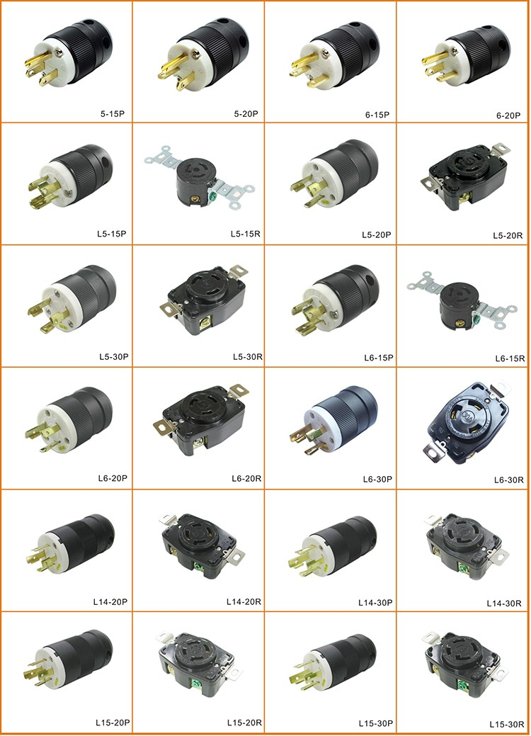 Nema L5 20p 20a Locking Plug American 3 Pin Plug Generator