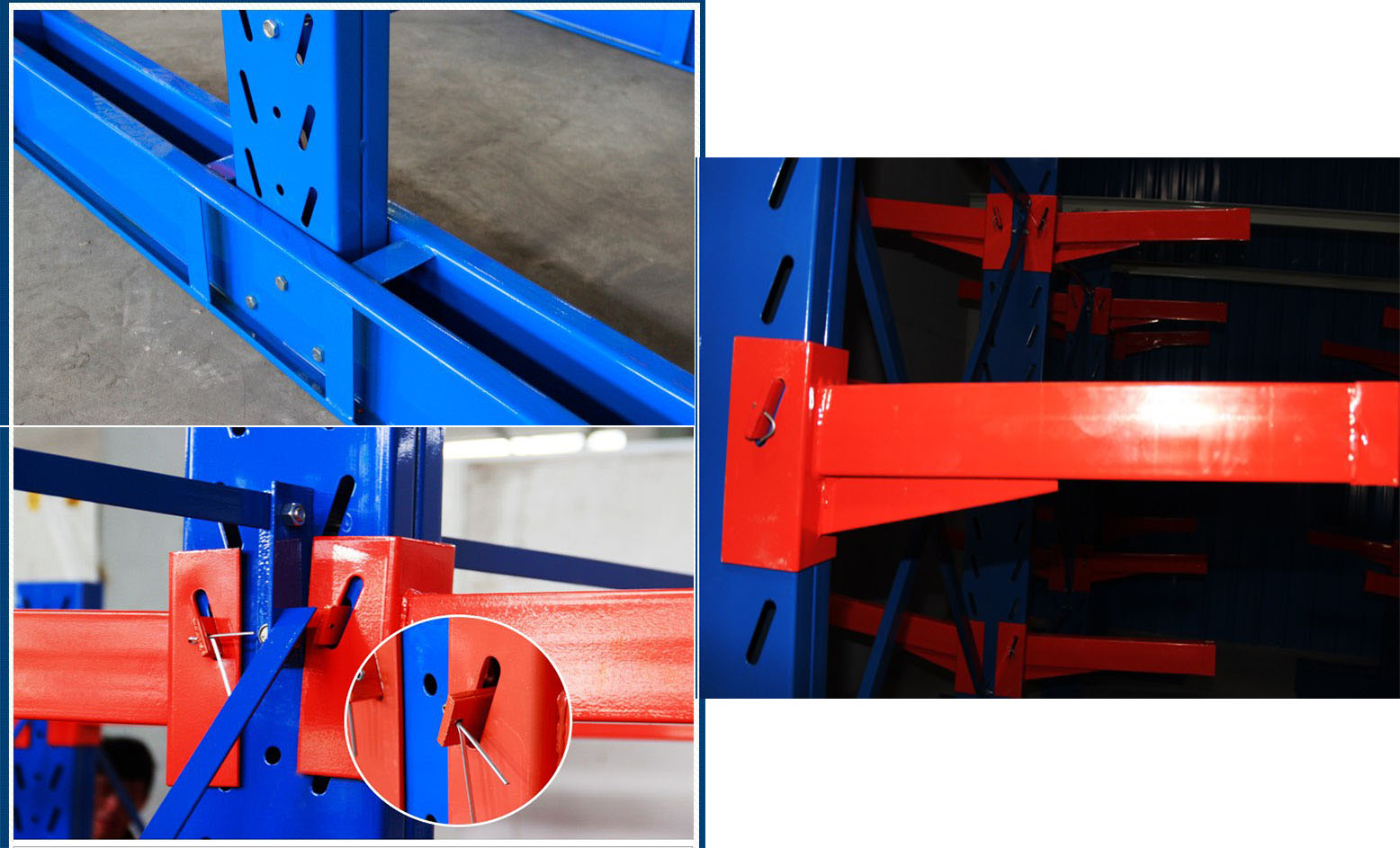 Warehouse steel and pipe cantilever racking system for sale