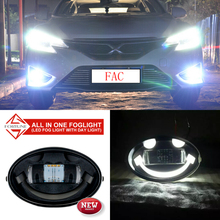 2016 Best Sale Slope/ Slant Universal Car And Truck LED Fog Light drl LED Daytime Running Light