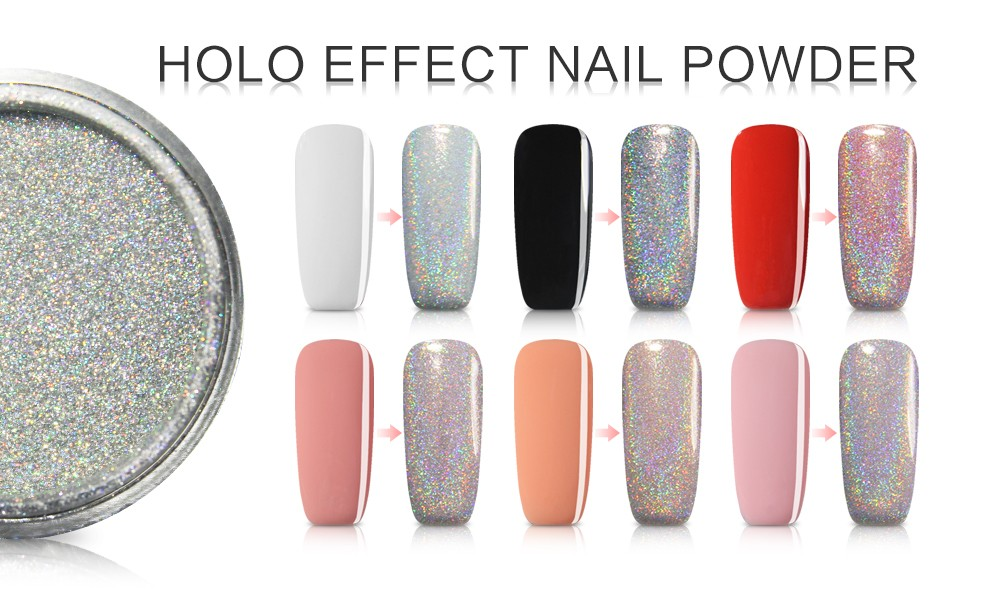 Beauty Mirror Effect Chrome Nail Powder With 3g - Buy Mirror Effect ...
