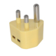 yellow IEC GB standard South African dual USB wall charger power adapter output 5V 1000mA 2100mA