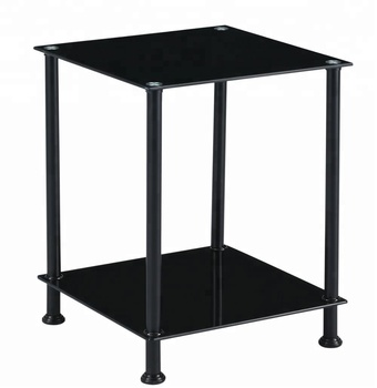 Simple Style Small Square Tempered Glass Black Side Table End Tables Living  Room Furniture - Buy Glass Black Side Table,Small End Table,Side Table ...