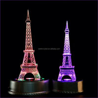 Promotion custom ingenuity cheap wedding gifts Eiffel Tower customized crystal crafts