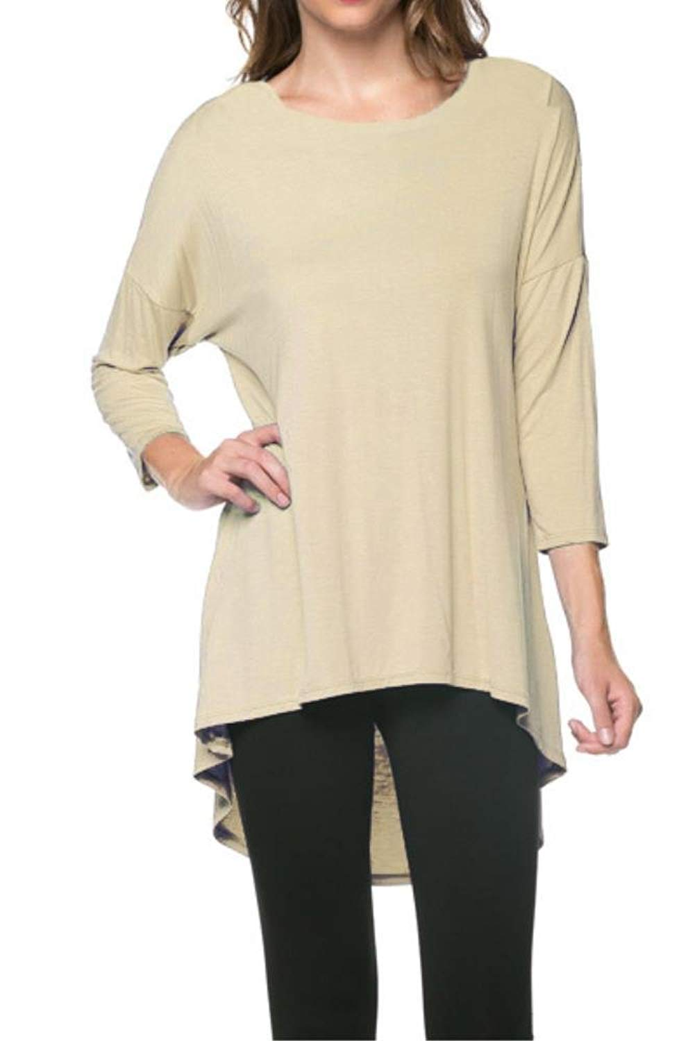 9361810cde5511 Get Quotations · Simlu Tunics For Women Rayon Span Long Tunic Sweater High  Low Tops Made In USA