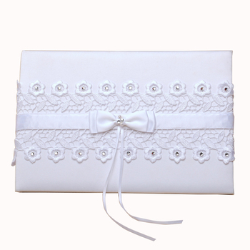 M3606 Wholesale Wedding Guest Book with Beautiful Artificial Flowers